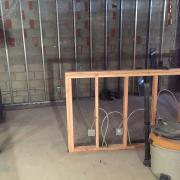 Interior picture of the store being built