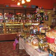 Interior photo of the store with products on display