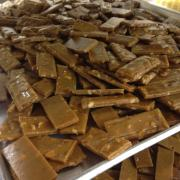 Trays of Almond Toffee