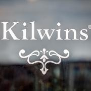 Photo of Kilwins logo decal on window