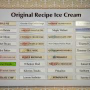 Photo of Ice Cream menu board