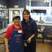 Picture of the owner with Sarah Palin