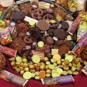 Photo of party platter with an array of Kilwins products