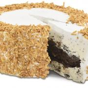 A picture of Kilwins Gourmet Toasted Coconut Cake and Ice Cream