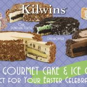 Graphic promoting Kilwins Gourmet Cake and Ice Cream