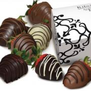 Photo of Chocolate-covered Strawberries with Kilwins box