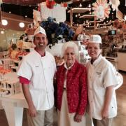 Photo of Kilwins Destin Commons store owners with Katy Kilwin, one of the founders of Kilwins