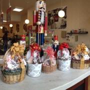 Christmas themed items on display