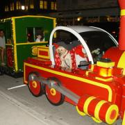 Photo of train in Holiday parade