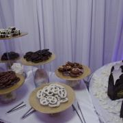 Photo of Kilwins products on platters at event