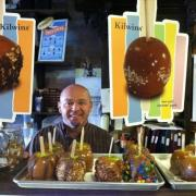 Picture of the owner with Caramel Apple graphics