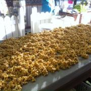 Photo of Caramel Corn on marble table