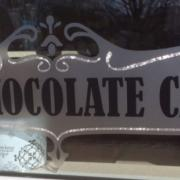 "Photo of ""The Chocolate Cafe"" window decal"