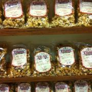 Photo of bags of Caramel Corn on shelves