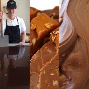 A picture of Kilwins fudge being made