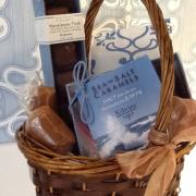 Photo of Sea-Salt Caramels in a gift basket
