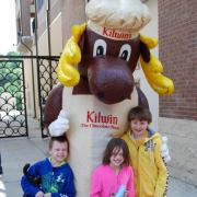 Photo of children with The Kilwins Moose