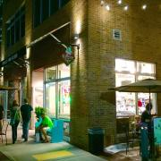 Kilwins Little Rock Storefront at Night