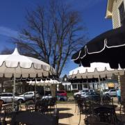 Photo of Kilwins Geneva patio with umbrellas