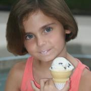 Photo of young girl eating Ice Cream Cone