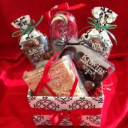 Photo of gift basket full of Kilwins treats
