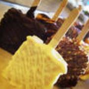 Rice Krispie treats dipped in chocolate