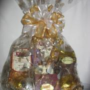 Variety of Gift Basketes available. From our specialty baskets to customized baskets!