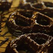 Picture of pretzels dipped in chocolate