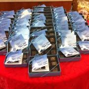 Photo of boxes of Sea-Salt Caramels on table