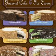Graphic showing Ice Cream Cake flavors