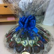 Photo of platter of Chocolate-dipped Strawberries