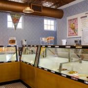 A picture of the Ice Cream case